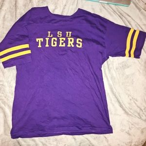 VINTAGE Embroidered LSU Louisiana Tigers Jersey